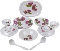 Gabbu Flower-melamine Pack Of 32 Dinner Set (Melamine)