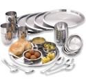 Vinod 36 Pcs Thali Set V36TS - Stainless Steel, Silver