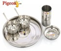 Pigeon Lunch Set 7 - Stainless Steel, Silver, White