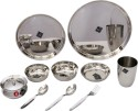 BM BM SS Dinner Set - 10 Pcs Dinner Set - 10 - Stainless Steel, Steel