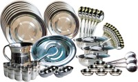 Laura Pack Of 60 Dinner Set (Steel)