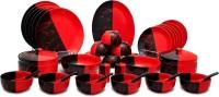 Caffeine Handmade Ceramic Bold Classic Pack Of 37 Dinner Set (Ceramic)
