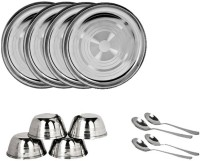Sssilverware SSS-DI-12pcs-01 Pack Of 12 Dinner Set (Stainless Steel)