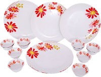 Radhe (Tableware Of Your Choice) Rock Perch Pack Of 18 Dinner Set (Melamine)