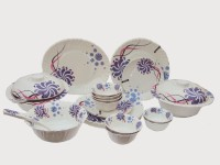 Maria Glossy Melamine Pack Of 32 Dinner Set (Melamine)