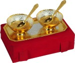Shreeng Festival Gifts Silver And Gold Plated Brass Bowl 5 Pcs Set