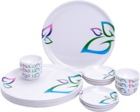 Mehul Glazed Melamine D-2015 Classic Leaves Exclusive Thali Set 18 Pcs Pack Of 18 Dinner Set (Melamine)