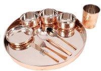 Indian Art Villa 10 Piece Dinner Set Pack Of 10 Dinner Set (Steel, Copper)