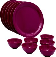 Iveo 12 Pcs Round Lavender Pack Of 12 Dinner Set (Melamine)