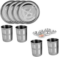 Sssilverware SS-HL-DI-014 Pack Of 14 Dinner Set (Stainless Steel)