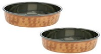 King Traders TULSI - Indian Serveware Katoris Set Of 2 Serving Bowls Dinner Set (Copper)