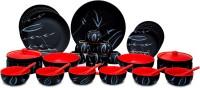 Caffeine Handmade Ceramic Elite Black Pack Of 37 Dinner Set (Ceramic)