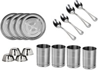 Sssilverware SS-16-PCS-16 Pack Of 16 Dinner Set (Stainless Steel)