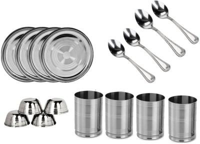 Sssilverware SS-16-PCS-16 Pack Of 16 Dinner Set (Stainless Steel)