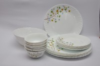 La Opala Floral Magic Pack Of 19 Dinner Set (Ceramic)