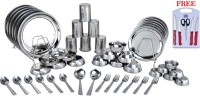 OTC 50 Pcs Stainless Steel Dinner Set & Free Knife Set + Chopping Board Dinner Set (Stainless Steel)