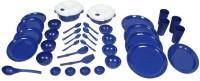 Cutting Edge Dinner Set Round 51pc Blue Microwave Safe Air Tight Bpa Free Pack Of 51 Dinner Set (Polypropylene)