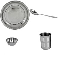Sssilverware SSS-DI-04-0 Pack Of 4 Dinner Set (Stainless Steel)