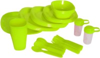 Pindia Kitchen 48 Pieces Green Dinner Set With Box Pack Of 48 Dinner Set (Plastic)