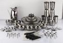 Mahavir Dinner Set 85MEDS - Stainless Steel, Silver