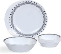 Corelle India Impressions City Block Pack Of 14 Dinner Set (Glass)