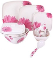 Picasso Pink Flower Pack Of 34 Dinner Set (Melamine)