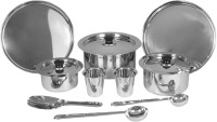 SAIL SALEM STAINLESS 10 Pcs Dinner Set Tope Model Pack Of 10 Dinner Set (Stainless Steel)