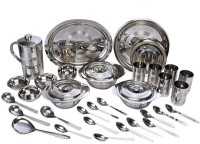 RBJ Mirror Finish Heavy Weight Pack Of 51 Dinner Set (Stainless Steel)