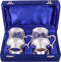 Jaipur Trade Silver Plated 2 Beer Mug Pack Of 2 Dinner Set (Silver Plated)