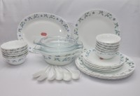 La Opala Juniper Blue Pack Of 35 Dinner Set (Ceramic)
