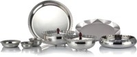 Arttdinox Nidhi Facet Range Dinner Set DR-1331 (Stainless Steel, Silver)