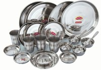 Sheetal Gold 24 - Stainless Steel Dinner Set Pack Of 24 Dinner Set (Stainless Steel)