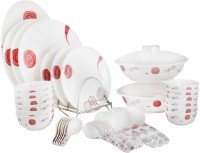White Gold Elite Pack Of 44 Dinner Set (Melamine)