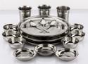 Mahavir Dinner Set 18MEDS - Stainless Steel, Silver