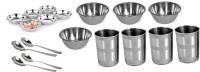 Sssilverware SSS-TAB-012 Pack Of 18 Dinner Set (Stainless Steel)