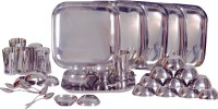 Dynamic Store Square Set Pack Of 36 Dinner Set (Stainless Steel)