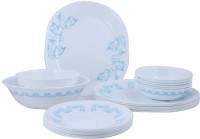 Corelle India Collection Rhythm 21 Pcs Dinner Set 21-RYM (Glass, White, Blue)