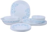 Corelle India Collection Rhythm 21 Pcs Dinner Set 21-RYM (Glass, White, Blue)