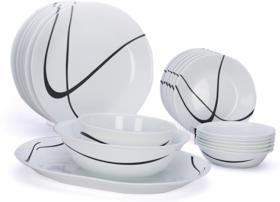 Corelle India Impressions Twists Turns Pack Of 21 Dinner Set Price In I