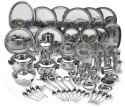Vinod 85 Pcs Dinner Set V85DS - Stainless Steel, Silver