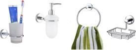 Dispodecor Brass, Glass Bathroom Set