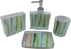 Arow AABS-0615 Soap Case, Toothbrush Holder and Soap Dispenser Set