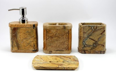 Stonkraft-Natural-Marble-Stone-Stoneware-Bathroom-Set