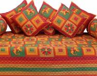 GRJ India Cotton Printed Diwan Set - DSTE88GQSZYHAGEH