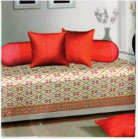 Optimistic Home Furnishing Cotton Self Design Diwan Set