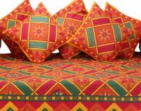 GRJ India Cotton Printed Diwan Set - DSTE88GQRZFMYP38