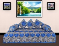 GRJ India Cotton Printed Diwan Set - DSTE8HVZHGFNXZ7M