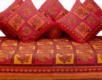 GRJ India Cotton Printed Diwan Set - DSTE88GQZJZF4ZJR