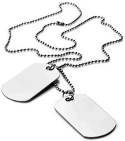 Vaishnavi First Quality Stay Life Long Non-Allergic 316L Surgical CBS0234 Plain Silver Dog Tag