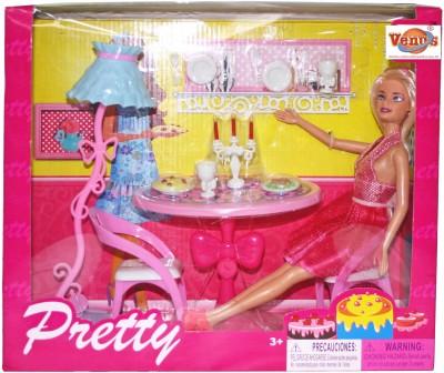Venus Planet of Toys Dolls & Doll Houses Venus Planet of Toys Pretty Glam Doll W Dining Room
